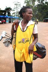 Hellen, golf caddy in Kololo