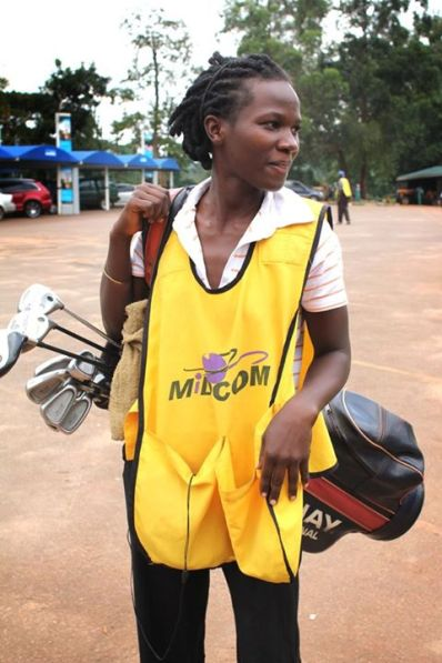Hellen, golf caddy in Kololo